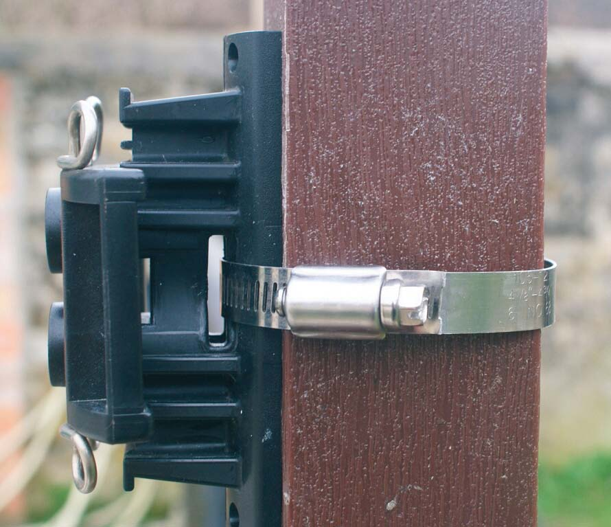 On TPostGuard with a hose clamp